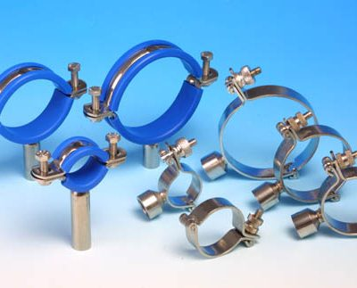 Pipe Clips And Saddle Clips for secure vertical and horizontal support for tubular pipework and process services lines.