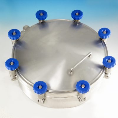 High Pressure Circular Manways designed for use in the pharmaceutical, cosmetic and food industries.