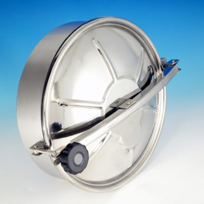 Stainless Steel Circular Swivel Lever Manways designed for opening in confined spaces