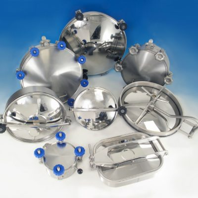 Hygienic Stainless Steel Manways providing access to tanks, storage vessels and ducting systems