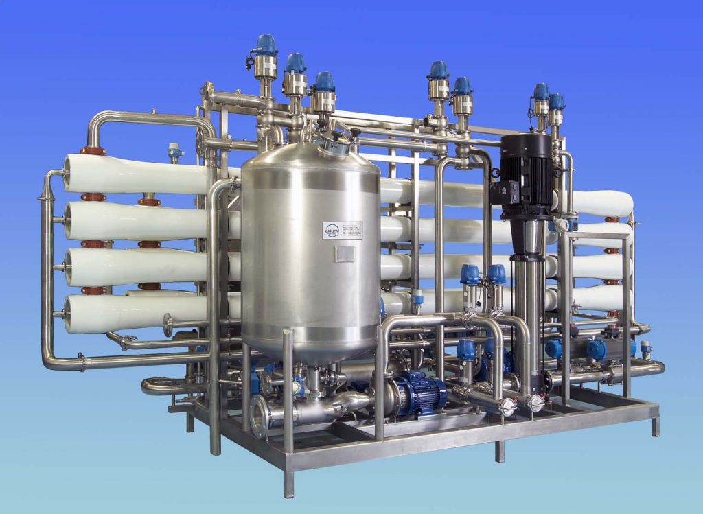 """Reverse Osmosis Membrane Filtration System which can be used for both """"in-process applications"""" or for waste stream concentration or purification."""