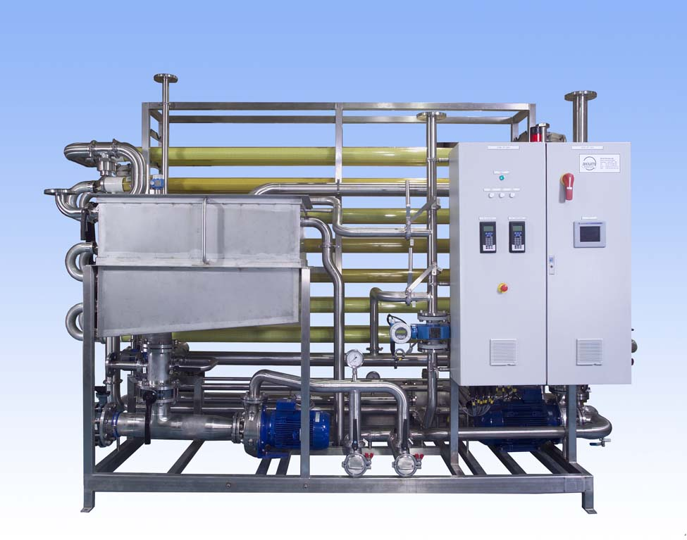 "Ultrafiltration Membrane System which can be used for both ""in-process applications"" or for waste stream concentration or purification."